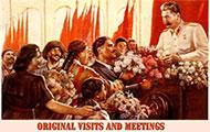 Original visits and meetings